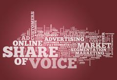 Word Cloud Share of Voice Stock Illustration