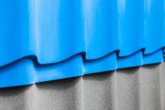 Samples of corrugated roofing - stock photo