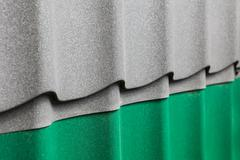 Samples of corrugated roofing Stock Photos