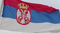 Serbia flag Stock Footage
