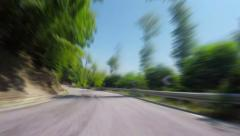 Fast Mountain Road, with Radial Blur, 4k Stock Footage