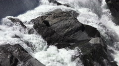 White Water Crashing Against Large Rocks Stock Footage