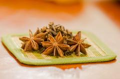 Anise star on a kitchen - stock photo