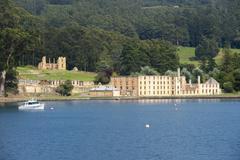 Port Arthur Convict Museum Tasmania Australia Stock Photos