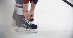 "YAROSLAVL, RUSSIA - MARCH 3: Hockey Skates KHL match ""Lokomotiv""-""Dinamo Stock Footage"