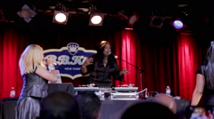 Spinderella of Salt N Pepa speaks at BB King's show in NYC Stock Footage