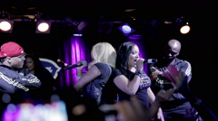 Stock Video Footage of Salt N Pepa performing I'll Take Your Man at BB King's rap show in NYC