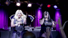 Salt N Pepa rapping R U Ready at BB King's in NYC Stock Footage
