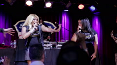 Salt-N-Pepa onstage at BB King's show performing R U Ready Stock Footage