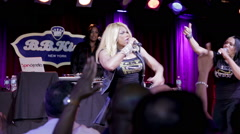 Salt-N-Pepa performing My Mic Sounds Nice onstage at show Stock Footage