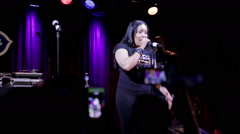 "Stock Video Footage of Salt N Pepa rapping ""Whatta Man"" onstage in NYC"