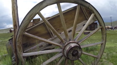 Old Wagon Bodie Ghost Town - stock footage