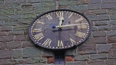 Clock face on church tower 2 Stock Footage