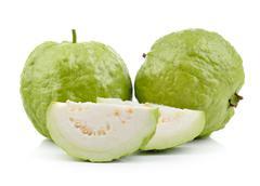 Guava on white background Stock Photos