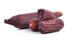 Purple corn isolated on white background Stock Photos