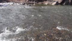 Stock Video Footage of A ten second clip of a river flowing quickly.