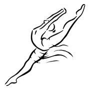 Ballerina female Stock Illustration