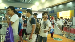 Shenzhen Animation Festival, a lot of young people to participate Stock Footage