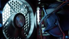 Inside computer case parallax shot 3/5 Stock Footage