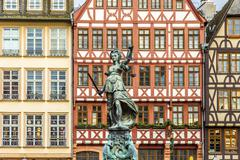 Justitia, a monument in Frankfurt, Germany Stock Photos
