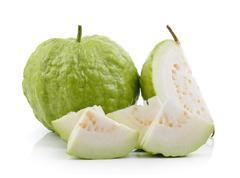 Guava fruit on white background Stock Photos