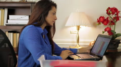 hispanic woman ceo working in her corporate office - stock footage