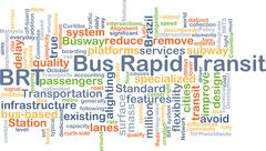 Bus rapid transit BRT background concept - stock illustration