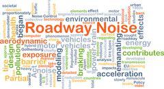 Roadway noise background concept Stock Illustration