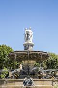 Portrait view of Fountain at La Rotonde in Aix-en-Provence - stock photo