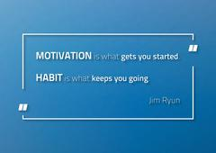 Motivational poster with Jim Ryun (athete) quotte Stock Illustration