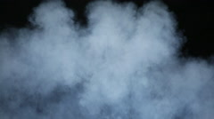 Smoke puffs close view of expanding clouds - stock footage