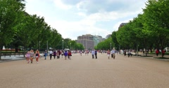 People Visit the Area Outside the White House Stock Footage