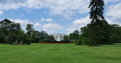 Wide Establishing Shot of White House Stock Footage