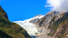 Franz Josef glacier on the west coast of new zealand Stock Footage