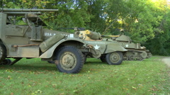 WWII American Armor 1 Stock Footage
