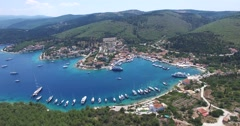 Aerial view of Greek island Kefalonia Stock Footage
