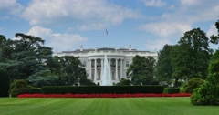 Long Establishing Shot of White House Stock Footage