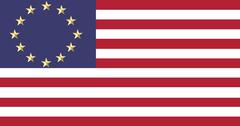 European and American flags united - stock illustration