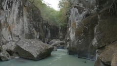River Gorge. Guanacaste, Costa Rica. Sound of monkeys. Stock Footage