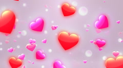 Lovely Hearts Bg 2 Loopable Background Stock Footage