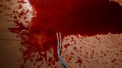 Closeup of Blood - stock footage