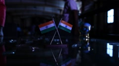 Indian Flag closeup Stock Footage