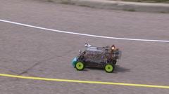 College university students autonomous robotics competition and races Stock Footage