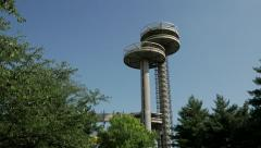 World's Fair Observation Towers at Flushing Meadows Corona Park in Queens. Stock Footage