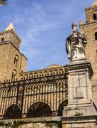 The Cathedral-Basilica of Cefalu, Sicily - stock photo