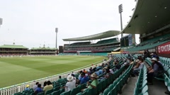 4 being hit at the Sydney cricket ground Stock Footage