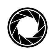 The diaphragm icon. Aperture symbol - stock illustration