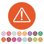 The attention icon. Danger symbol. Flat - stock illustration