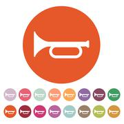 The horn icon. clarion symbol. Flat - stock illustration