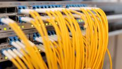 Fiber Network Server Stock Footage